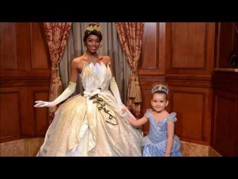 Meeting Rapunzel and Tiana, Disney - Magic Kingdom