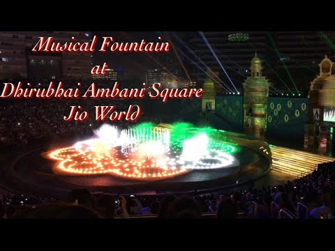 Musical water fountain : Specially for INDIAN ARMED FORCES at Jio World Centre