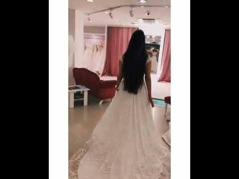 Фереде Алиева на белом платье. Ferede Aliyeva Oq Libosda