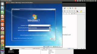 how to install WINDOWS on virtual box