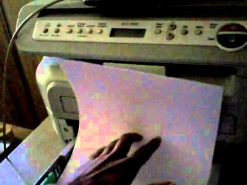 How to load and use legal or business sized paper in a Brother DCP 7030 laser printer