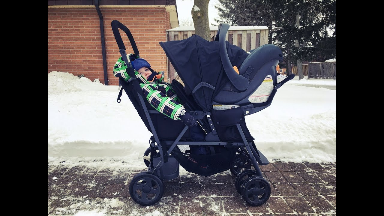 Joovy Caboose Graphite Double Stroller Review Youtube