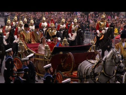 William and Kate on the Procession Route - The Royal Wedding - BBC