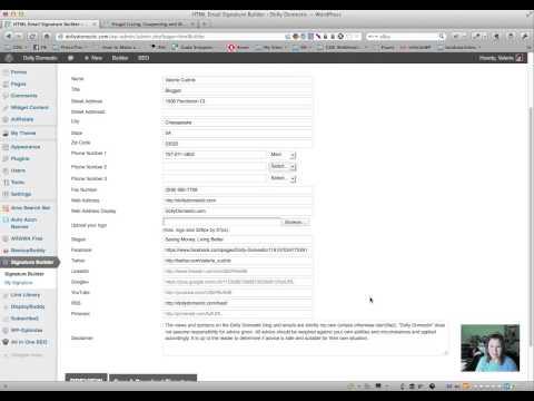 HTML Signature Maker WordPress Plugin Demonstration