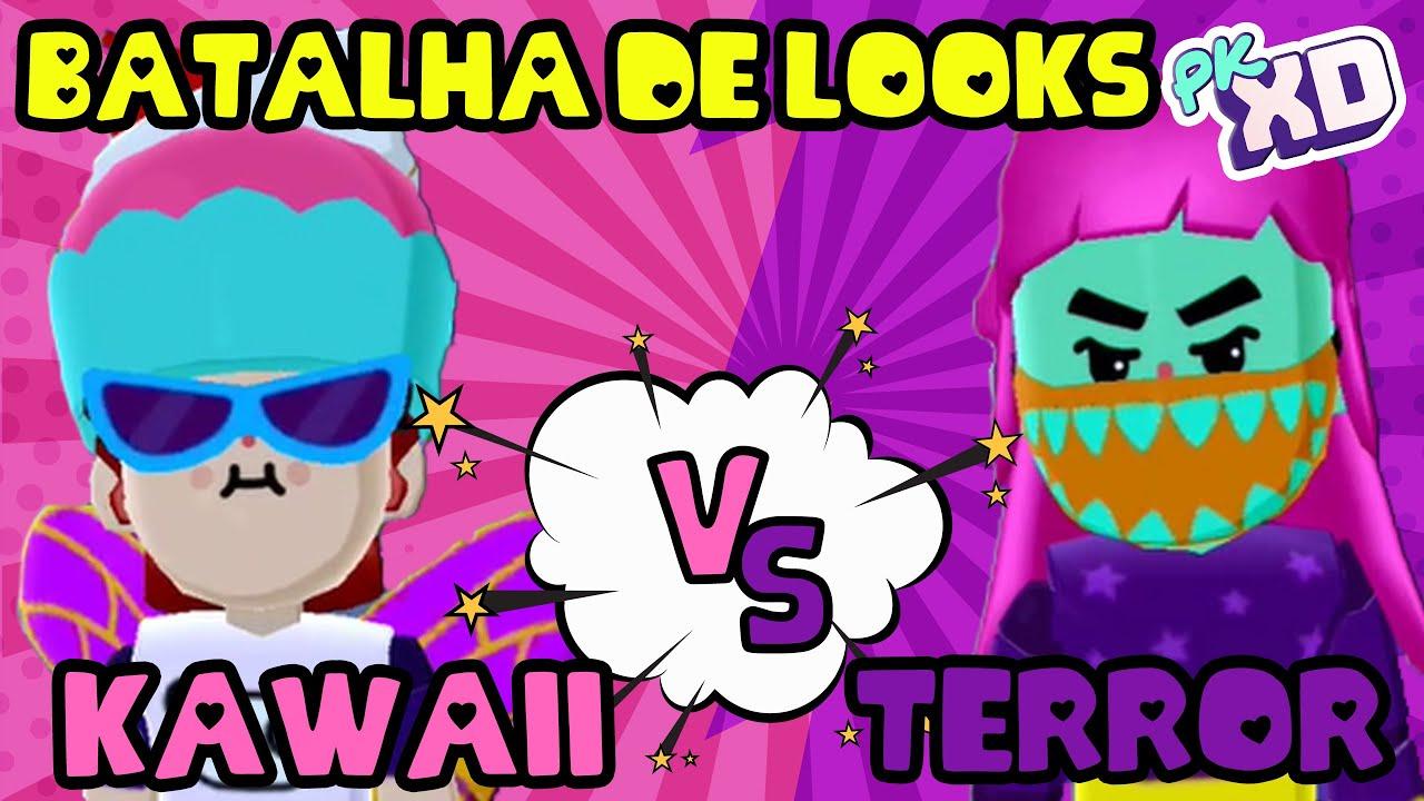 KAWAII VS. TERROR NO PK XD - BATALHA DE ESTILOS