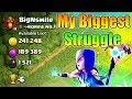 Biggest Struggle😭in Clash of Clans Career | You Can't Believe This | Clash of clans