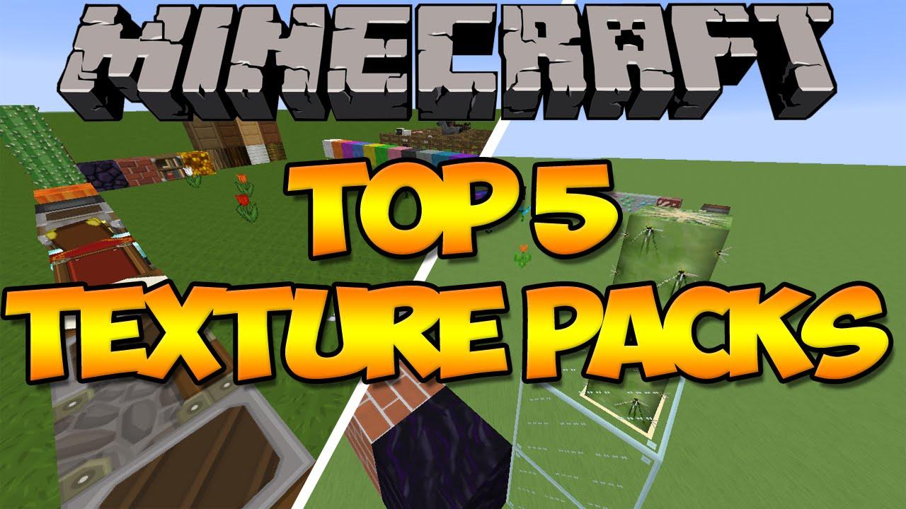 Minecraft: Top 5 Texture Packs (Resource Packs) (1.8) - YouTube