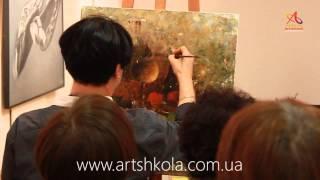 Мастер класс живописи Елены Ильичевой - Утро Нового года