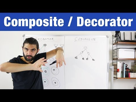 Difference Between Composite and Decorator Pattern – Design Patterns (ep 15)