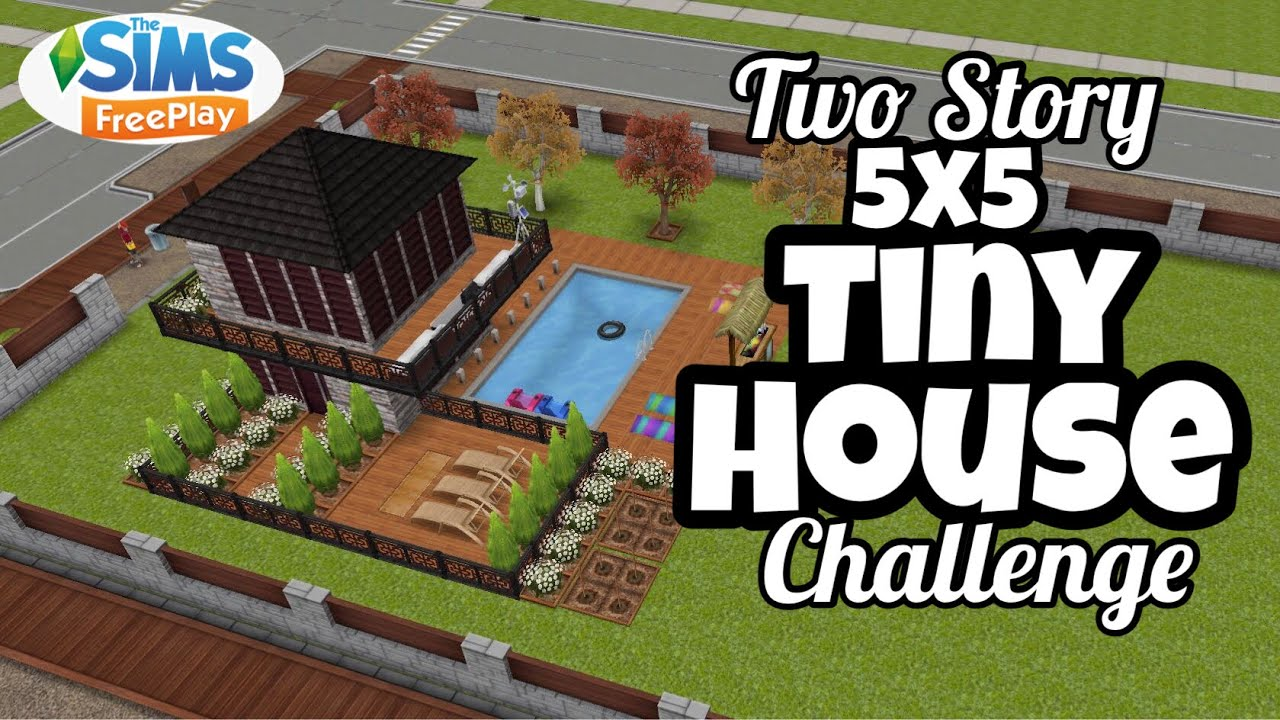 Two Story Tiny House🏠🏡| 5x5 House| Original Design| Sims Freeplay