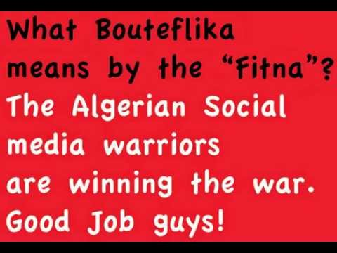 "What Abdelaziz Bouteflika means by the ""Fitna""?"