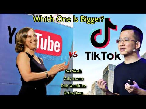 Youtube vs TikTok Comparison 2021-NetWorth-Active Users-Daily Income..