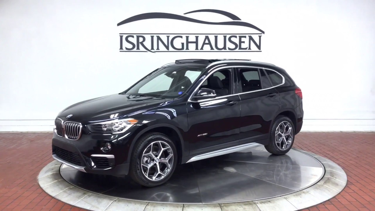2018 bmw x1 xdrive28i in black sapphire metallic 66276 youtube. Black Bedroom Furniture Sets. Home Design Ideas