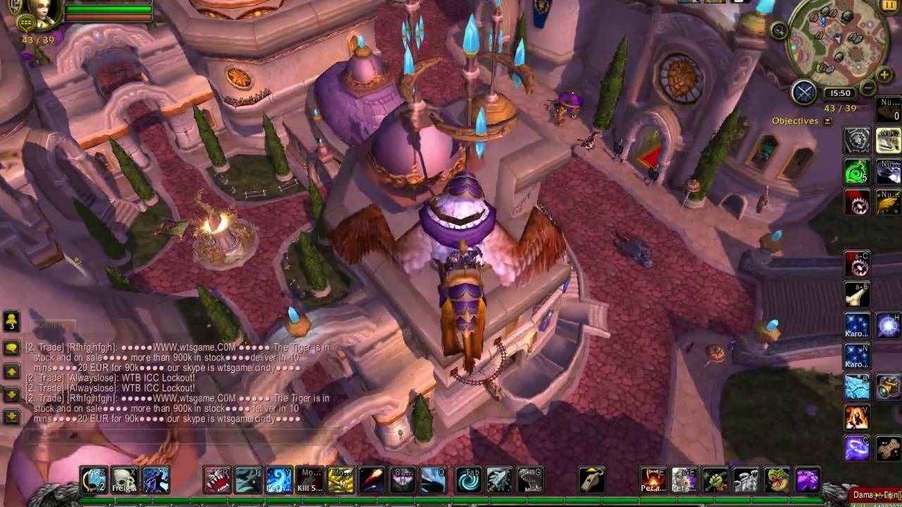 Portal From Dalaran To Stormwind Or Orgrimmar World Of Warcraft Youtube