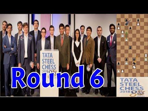 Tata Steel 2018   Round 6   So–Wei, Adhiban–Mamedyarov