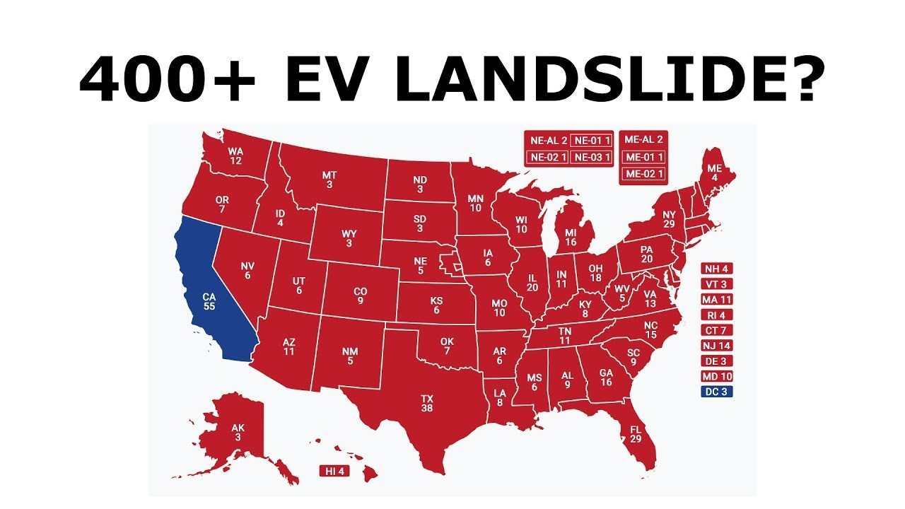 What a Trump 400+ Electoral Vote Landslide Victory Would Look Like