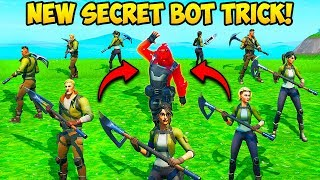 *NEW TRICK* USE BOTS AS A SHIELD!! - Fortnite Funny Fails and WTF Moments! #754