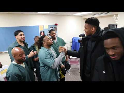 Giannis & Thanasis Deliver Zoom Freak 1 Surprise To Residents At Racine Correctional Institution