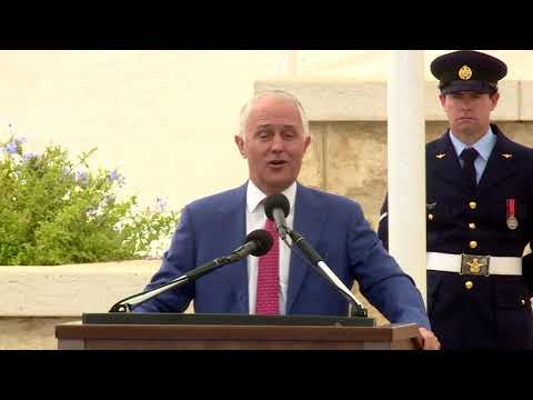 PM Netanyahu & Australian PM Turnbull at Battle of Be'er Sheba Centenary Service