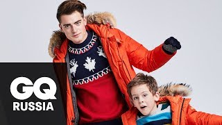 Как одеться на зимнюю прогулку с сыном