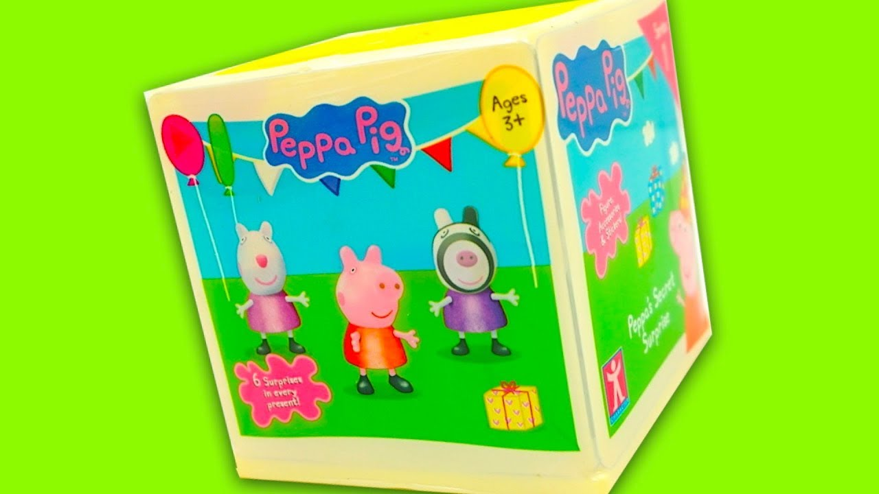 Свинка Пеппа новые сюрпризы и игрушки