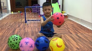 Learn Colors With Soccer Balls | The Surprise  For Kids