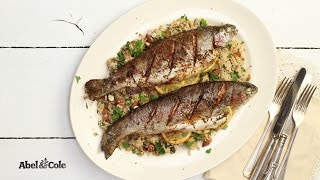 Spanish-crusted Trout With Lemon & Date Cauliflower Couscous | Abel & Cole