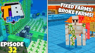 Truly Bedrock S2 Ep32! Fixing Farms And Breaking Farms! Bedrock Edition Survival Let's Play!