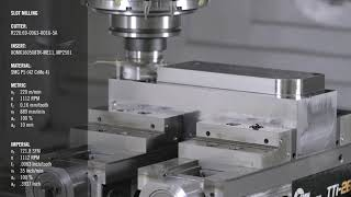 Slot Milling Application with Turbo 16   Seco Tools
