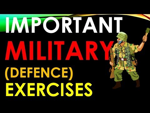 Important Military Exercises with other Countries - Defence Exercises - Static GK , Current Affairs