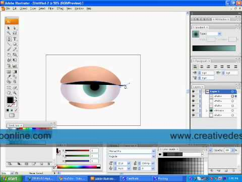 How to create an eye in Adobe Illustrator - YouTube