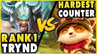 CAN THE #1 TRYNDAMERE WORLD BEAT THE HARDEST COUNTER? TRYND VS. TEEMO! - League of Legends