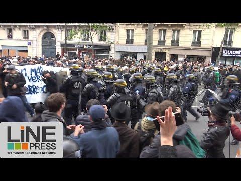 "Manifestation ""Front Social"". Incidents / Paris - France 08 mai 2017"