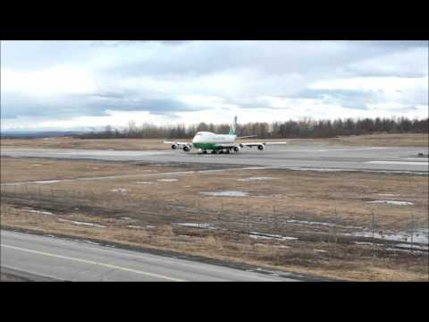 Anchorage International Airport - Boeing 747 Cargo Action April 2016