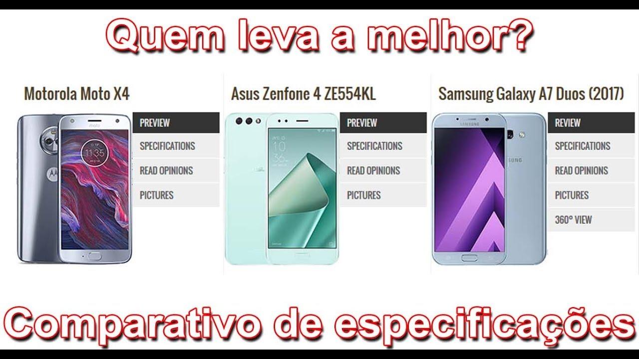 Motorola Moto X4 Asus Zenfone 4 E Samsung A7 2017 Quem