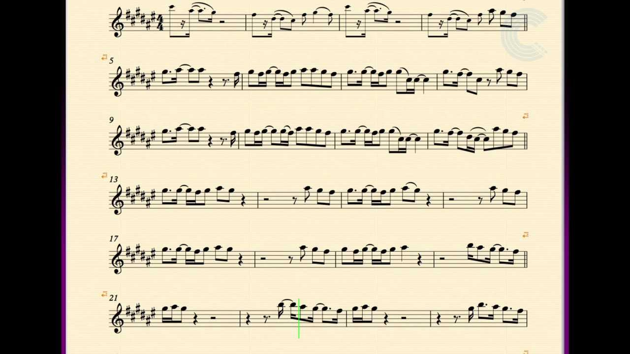 how to play moondance on alto sax
