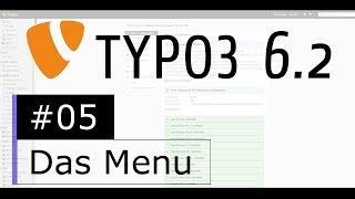 Tutorial: TYPO3 6.2 - Das Menu