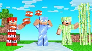 MINECRAFT But ANY BLOCK = ARMOR (special powers)