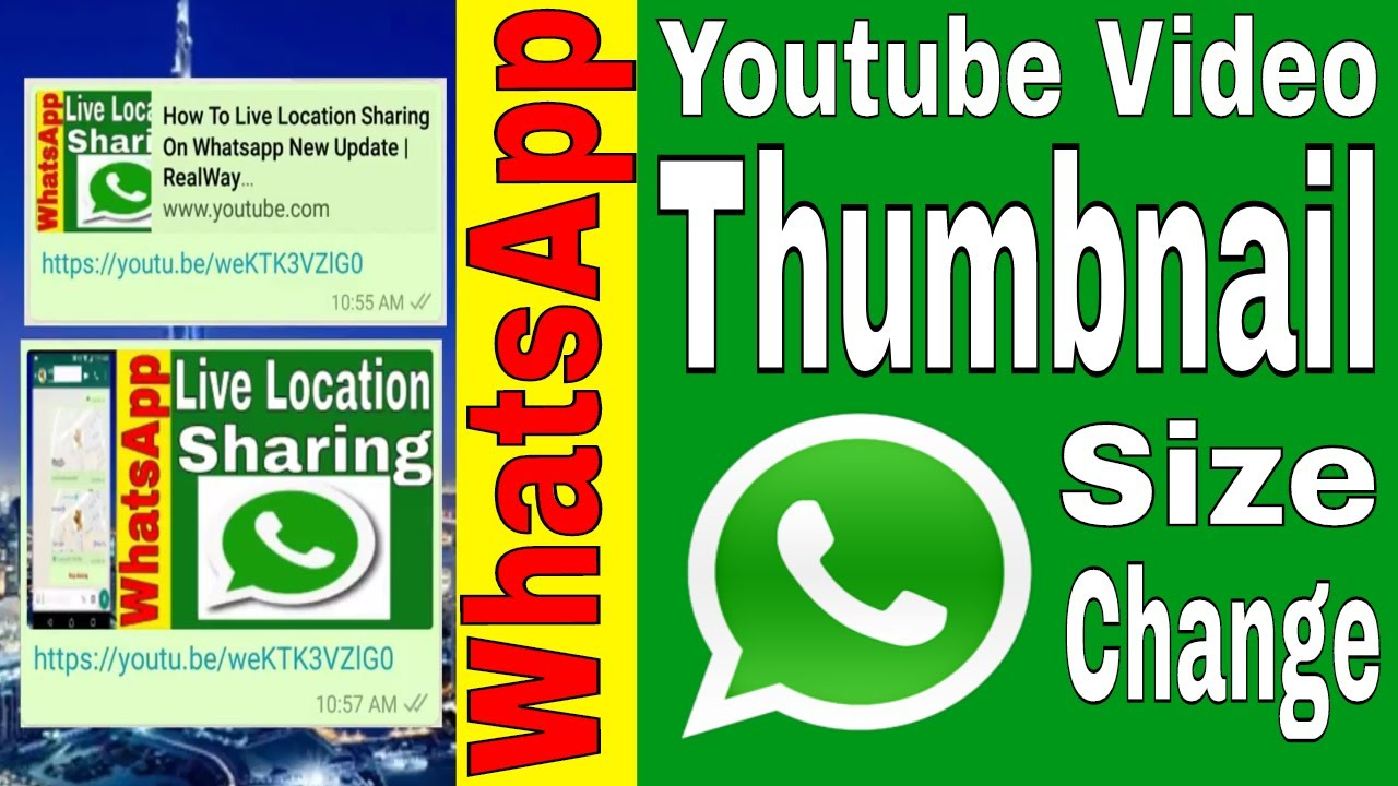 How To Whatsapp Send Youtube Video Thumbnail Change Realway Youtube