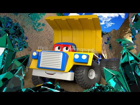 รถบรรทุกเหมืองแร่ 🚚⍟คาร์ล ซุปเปอร์ทรัค l การ์ตูนรถบรรทุกสำหรับเด็ก Super Truck Animation for Kids