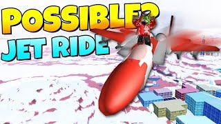 IS IT POSSIBLE TO RIDE THE AIRDROP JET? Jailbreak | Roblox