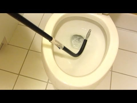Unclog A Slow Draining Toilet How To Fix With Toilet Snake Auger