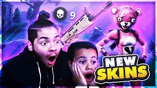 *NEW* TEDDY BEAR SKIN IS UNSTOPPABLE!! FORTNITE BATTLE ROYALE OVERPOWERED SKIN LEADS TO CRAZY WIN!