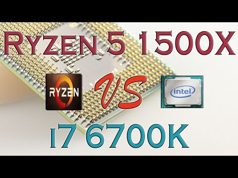 RYZEN 5 1500X Vs I7 6700K - BENCHMARKS / GAMING TESTS REVIEW AND COMPARISON / Ryzen Vs Skylake
