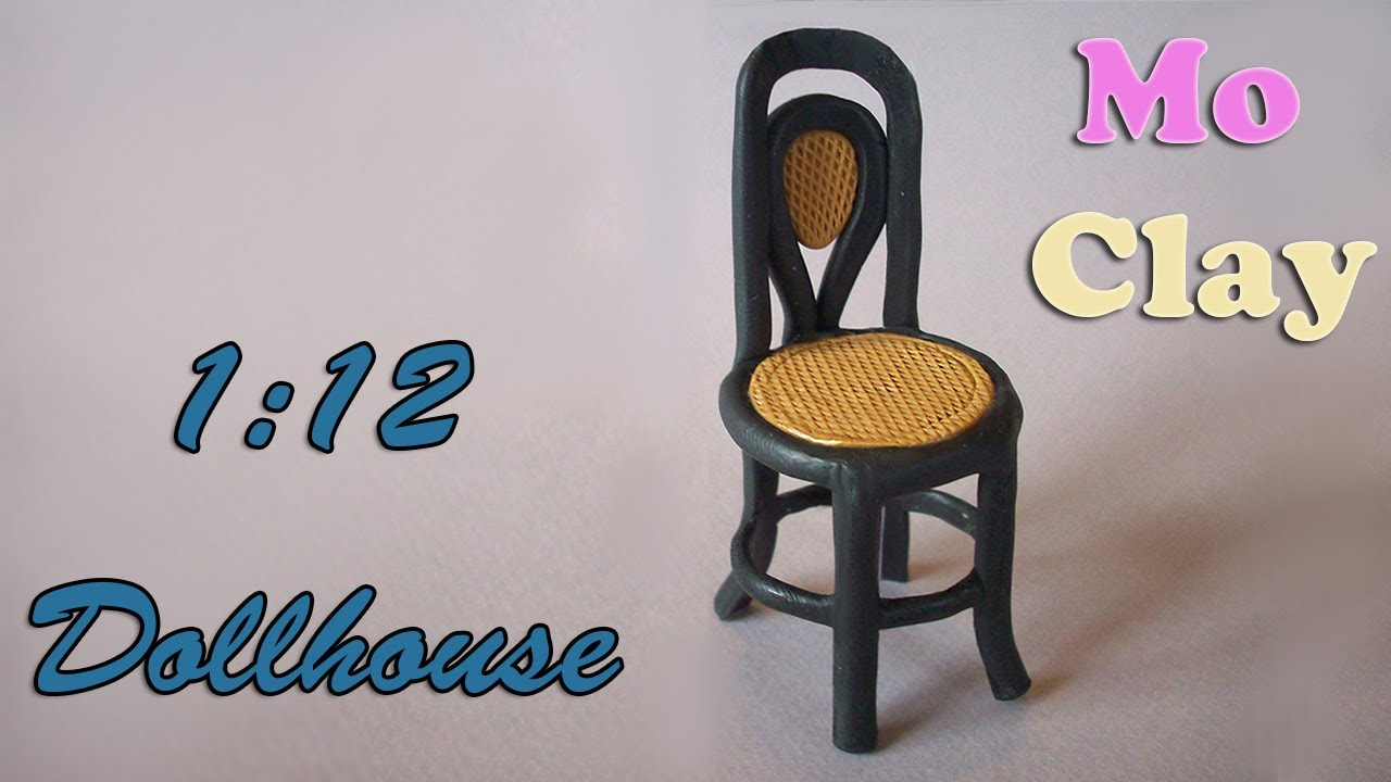 diy dollhouse polymer clay chair - sedia scala 1:12 - casa de