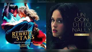 Download Zac Efron, Zendaya, Katy Perry - Rewrite The Stars (The Greatest Showman) x Unconditionally (MASHUP) Mp3 and Videos