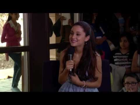 Ariana Grande sings songs from the musical