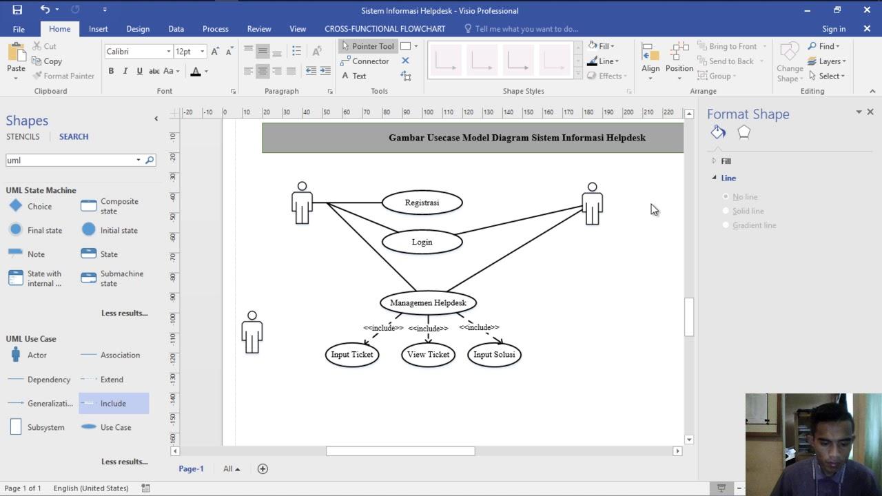 cara membuat use case diagram aplikasi helpdesk dengan ...