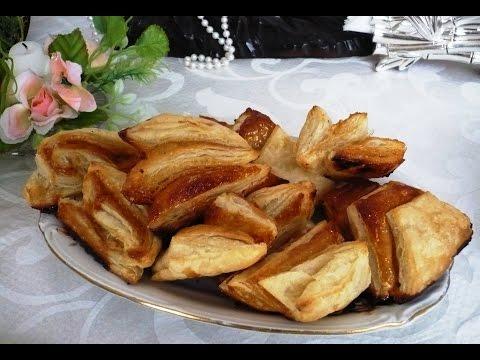 Недорогой рецепт Слоёное тесто с творогом (слойки)  с зеленью и газовая плита Gorenje(пошагово)