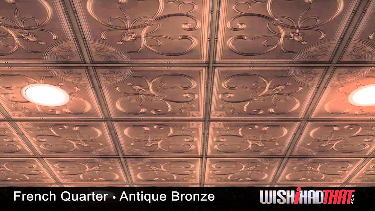 French Quarter Ceiling Tile Bronze